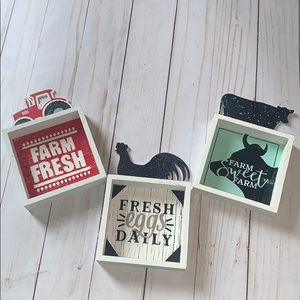 Other - Lot of 3 Farmhouse Kitchen Dining Signs New